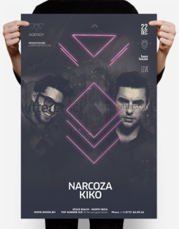neon club poster