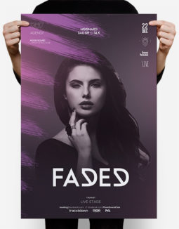 faded club flyer