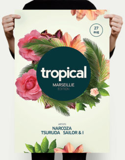 free tropical flyer template