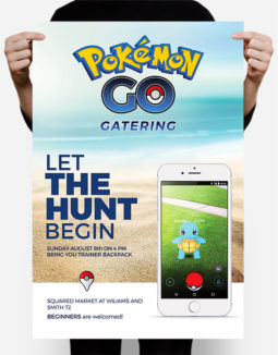 free pokemon hunt flyer