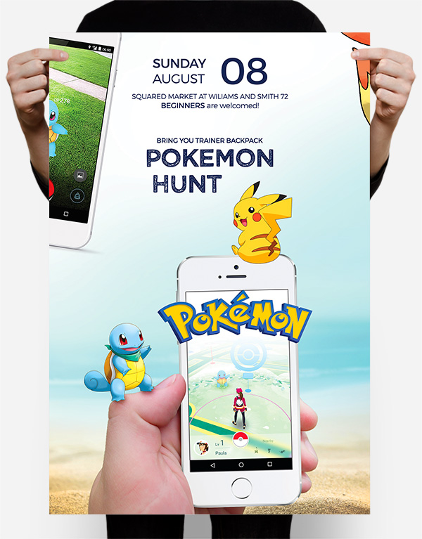 free pokemon go flyer