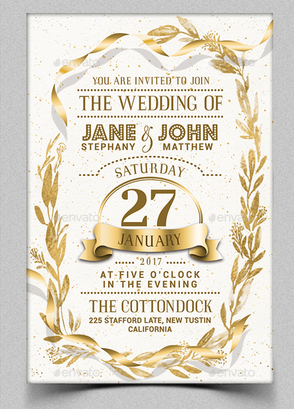 elegant wedding flyer