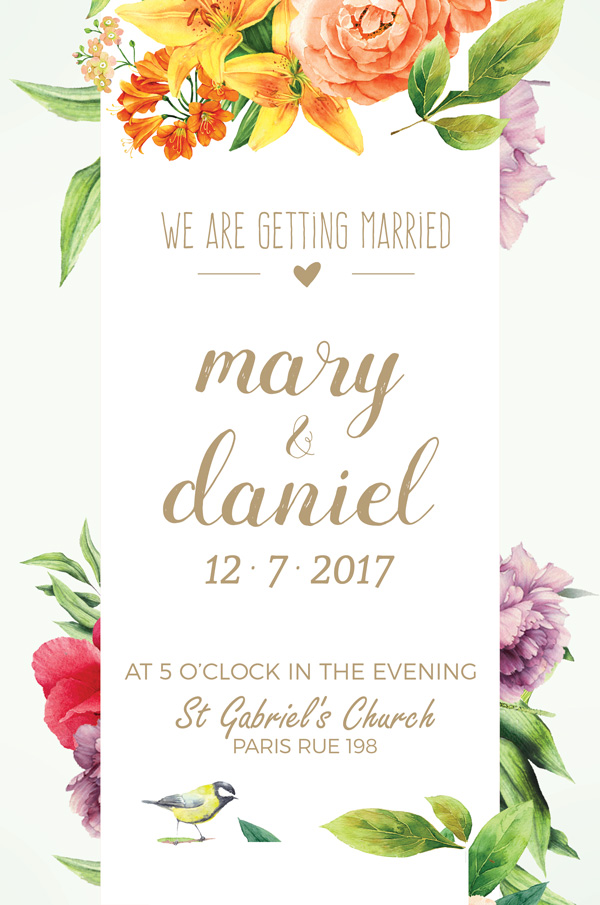 Top 20 Beautiful Wedding Invitations Templates