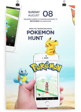 pokemon go flyer
