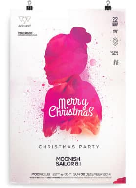 christmas flyer psd