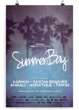 retro summer flyer template