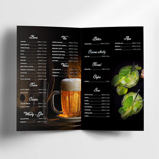 Free Drinks Menu Template - Dussk Design
