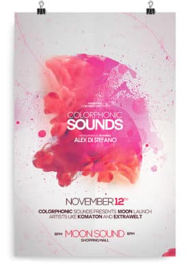 colorphonic poster template