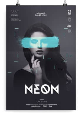 neon club flyer template