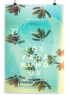 palms flyer template