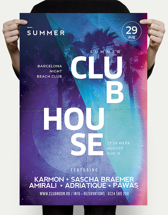 beach house flyer