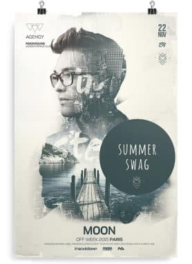 double exposure flyer template