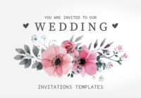 20 beautiful wedding invitation templates
