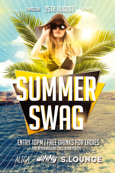 Best Free Summer Flyer Templates  Dussk Design