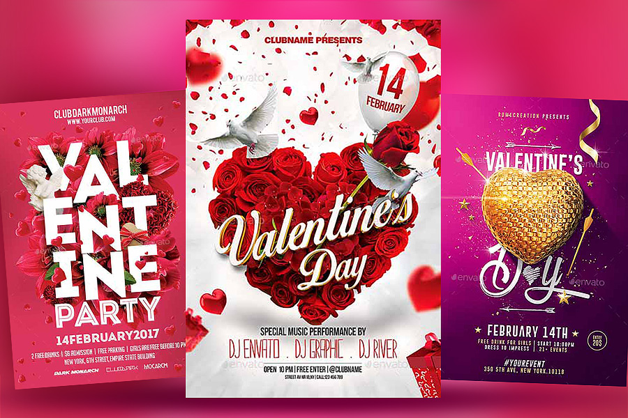 Top 20 Valentine Flyers Templates
