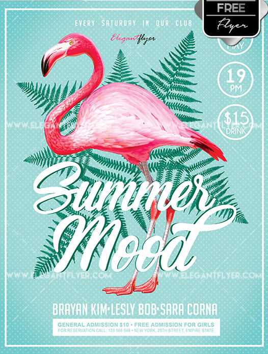 summer mood free flyer