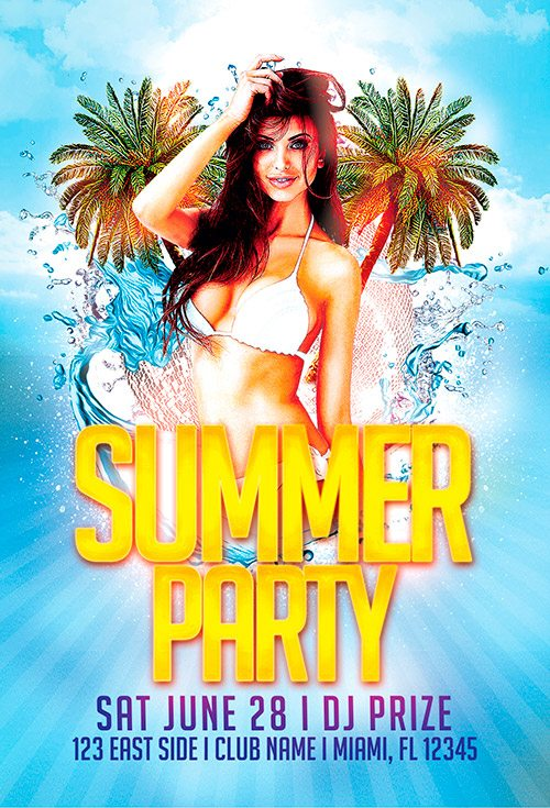 free flyer template summer