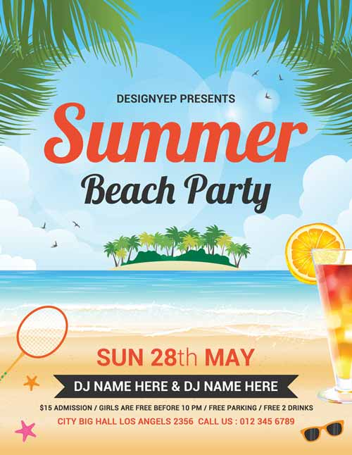 free summer beach party