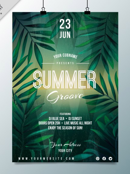 free summer night flyer template