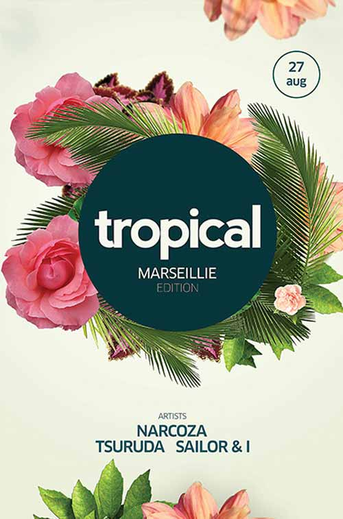 Free tropical psd flyer