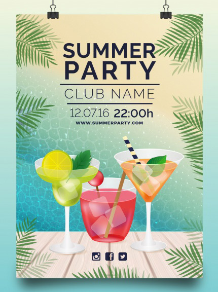 summer drinks free flyer