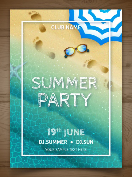 free Summer flyer design