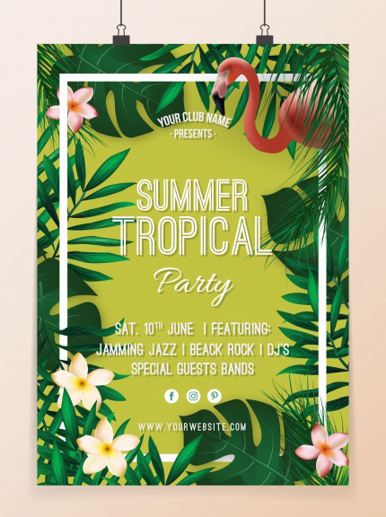 amazing free summer flyer template