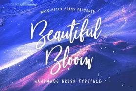 beautiful bloom brush font