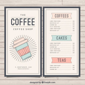 coffee bistro menu