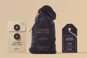 packaging price tag mockup