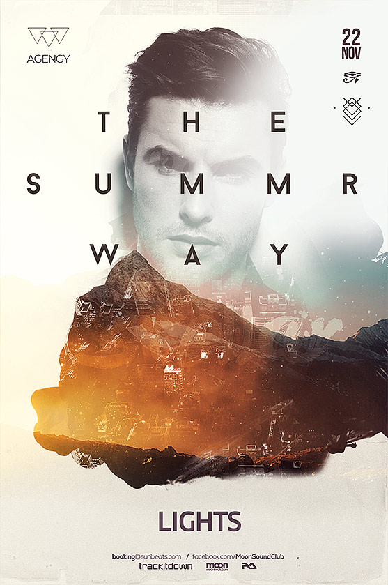 summer way poster template