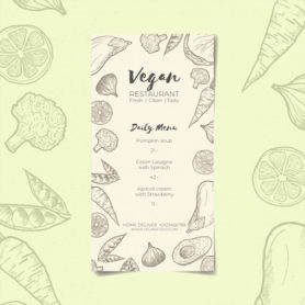 vegan menu template