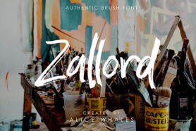 zallord brush typeface