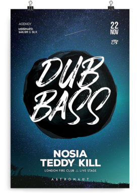 free drum & bass flyer