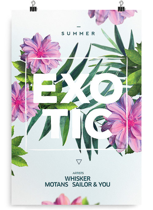 free exotic flyer template