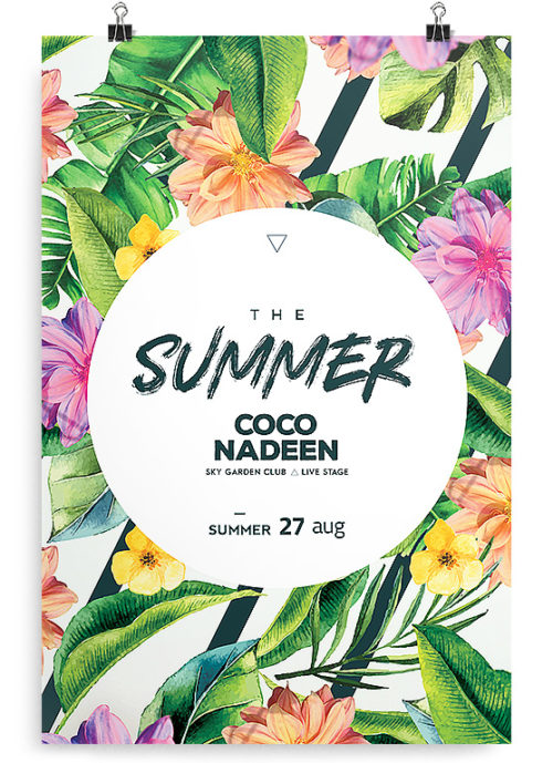 free exotic summer flyer template