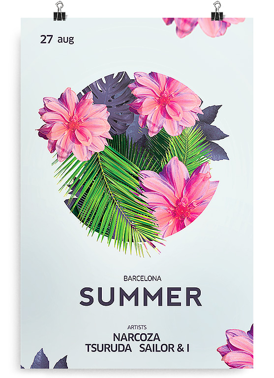 in summer flyer template