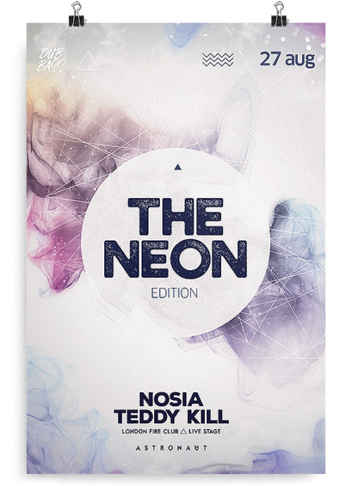 free neon flyer template