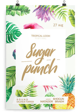 tropical flyer template