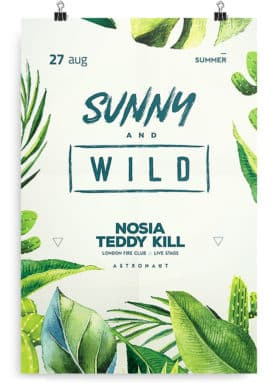 tropical flyer template psd