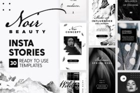 instagram stories noir beauty edition